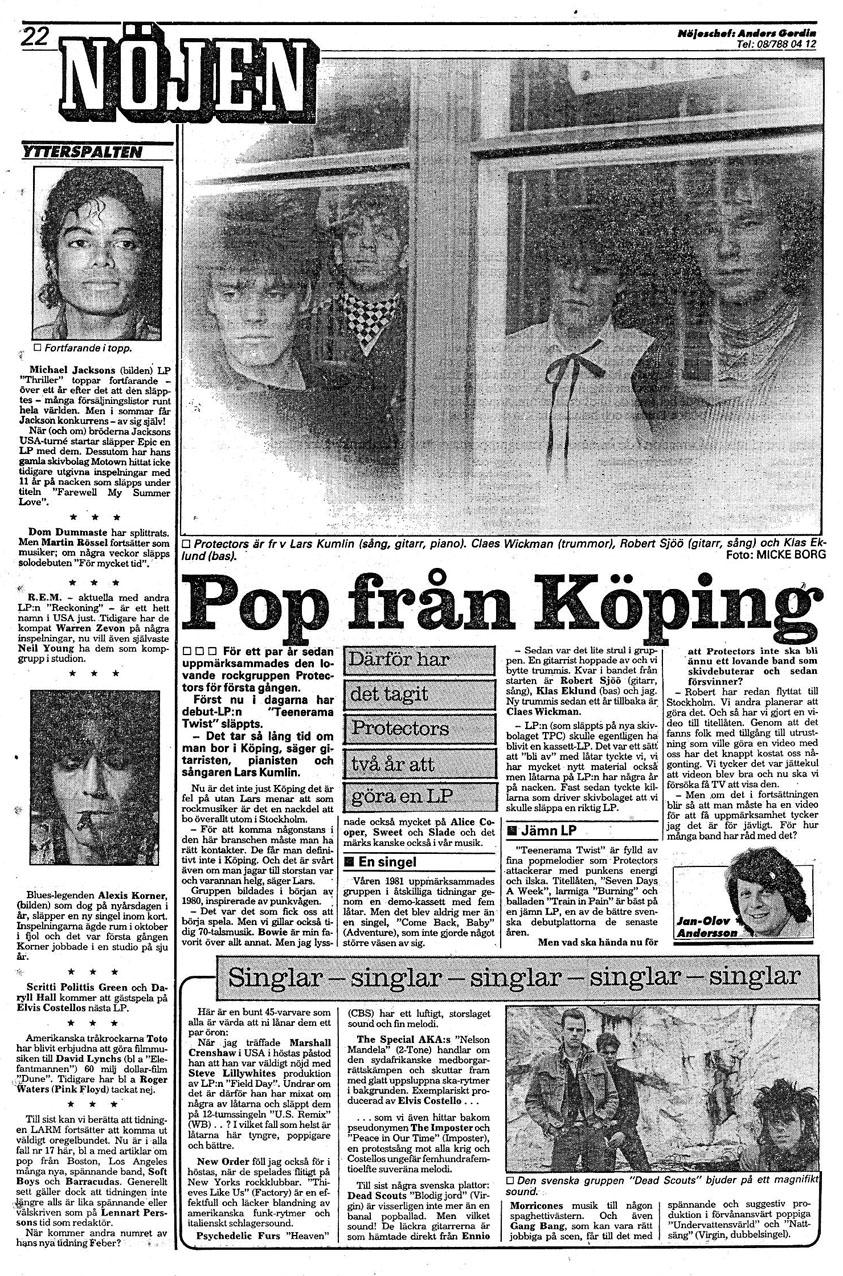 Protectors - Pop fran Koping