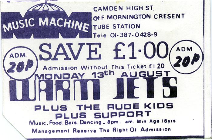 MusicMachine-biljett